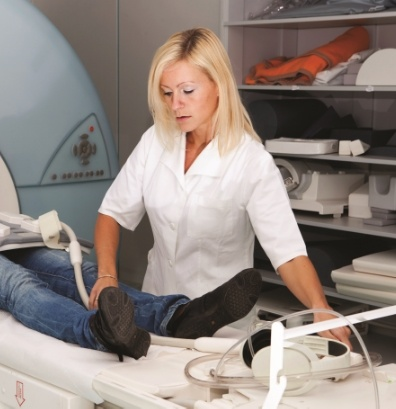Woman at CT Scanner